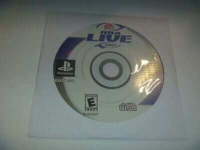 NBA Live 2001 Basketball (2000) Sony Playstation 1 PS1 (Game Disc Only) No Case