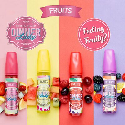 Dinner Lady Fruits E-Liquid  Berry Blast | Melon Twist | Pink Wave | Purple Rain