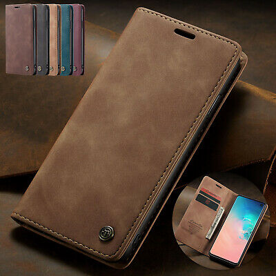 For Samsung A50 Case A70 M10 A10 A20 Retro Magnetic Leather Flip Card Slot Cover