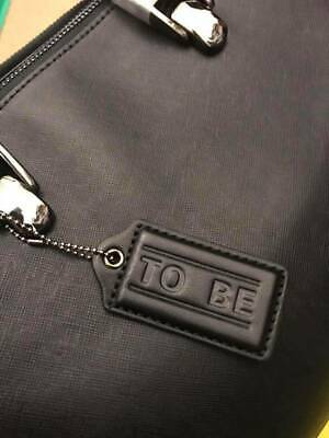To Be by Tom Berret Leather Habdbag - Black