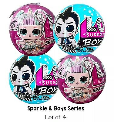 4 LOL Surprise 2 Sparkle Series 6 Dolls Sister + 2 Boys Balls 1 3 5 Makeover