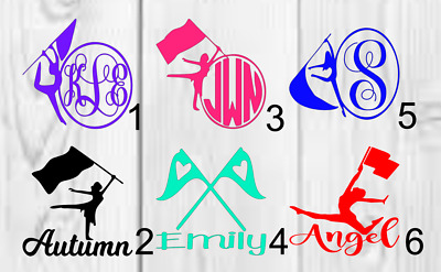 Personalized Color Guard Vinyl Decal A Approx 3inchx3inch