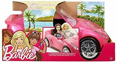 New Kids Pink Barbie Glam Convertible Electric Car Glitter Toy
