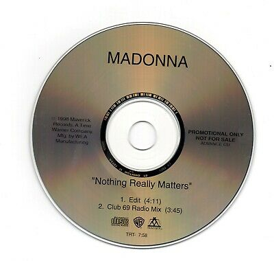 Madonna - Nothing Really Matters –USA 1998 2 Track Promo NOTHING70
