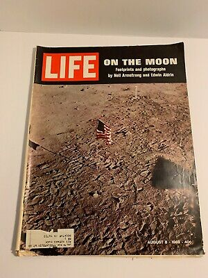 "LIFE Magazine (Aug. 8, 1969) MOON LANDING edition! ""ON THE MOON"""