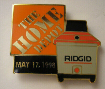 f449c4a75 HOME DEPOT issued collectible pin RIDGID WET VAC LAUNCH MAY 17 1998