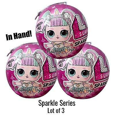 3 LOL Surprise Sparkle Series 6 Ball Doll Big Sister Brother Boys 1 2 4 5 NEW