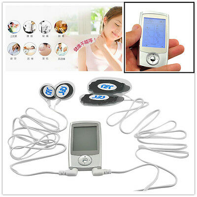 Mini Electric Massager Digital Pulse Therapy Muscle Body Relax Massager Silver