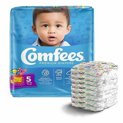 Comfees Baby Diaper Size 5, Over 27 lbs. 41541, 108 Ct