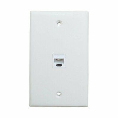 1 Port Cat6 Ethernet Cable Wall Plate Adapter Ethernet Wall Plate