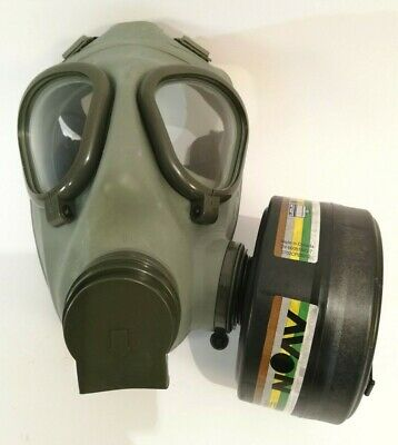 "Genuine Serbian NBC protective Gas Mask M 2 + 2pieces ""Avon"" 40mm Filters + bag"