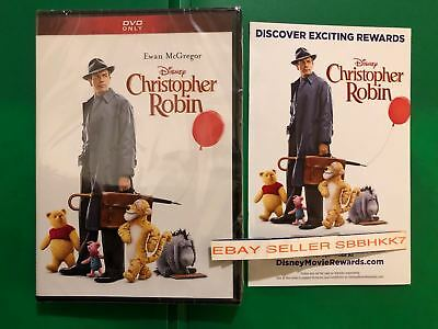 Christopher Robin DVD {AUTHENTIC With Disney Rewards Insert READ} NEW Free Shipp