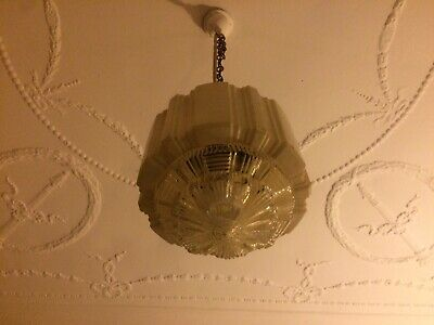 Art Deco - Empire Chrysler Beehive Skyscraper White Light Shade