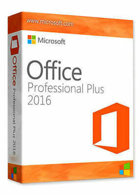 Microsoft Office 2016 Professional Plus 32/64 BIT Vollversion Deutsch
