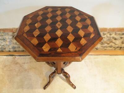 Table outstanding marquetry specimen wood Victorian c1840