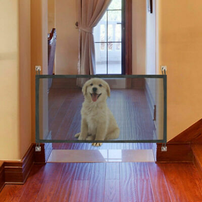Magic Gate Portable Fold Safety Guard For Pets Dog Cat Isolated Gauze AU Seller