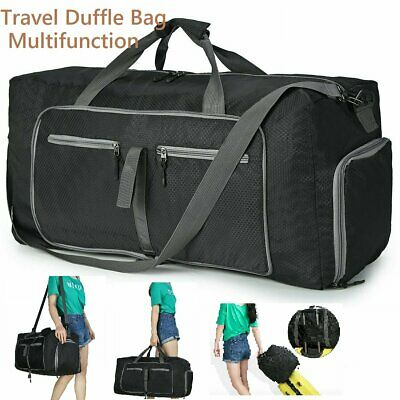 AU 70L Unisex Large Travel Duffle Bag Waterproof Foldable Luggage Bags Gym Bags