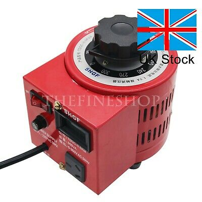 500W Variac Autotransformer Voltage Regulator Powerstat 0-300V adjustable 2A UK