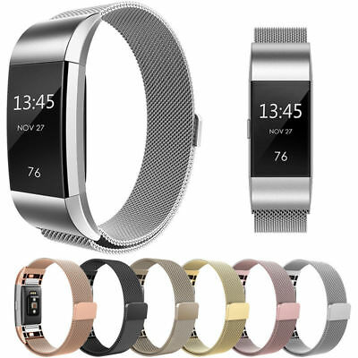 2019 For Fitbit Charge 2  Metal  Steel Milanese Loop Wristband Strap