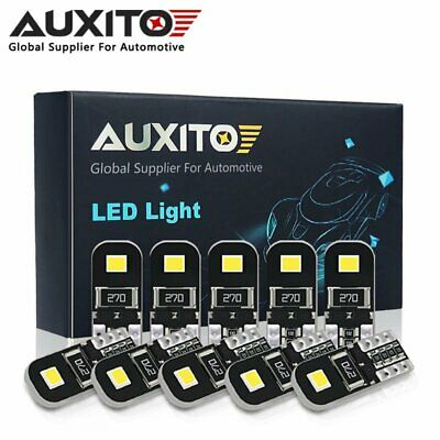 10X Auxito T10 W5W 501 Error Free Canbus White Led Side Light Number Plate Bulb