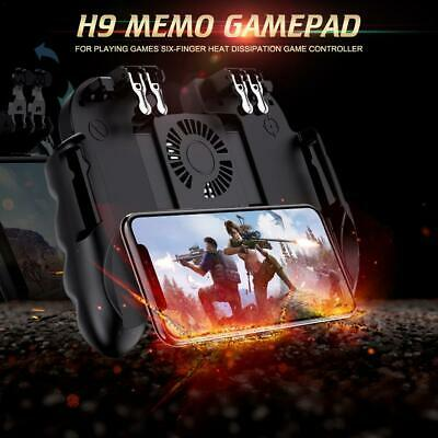 H9 Mobile Phone Trigger Joystick Gamepad Playing Game Six-finger Cooling Handle