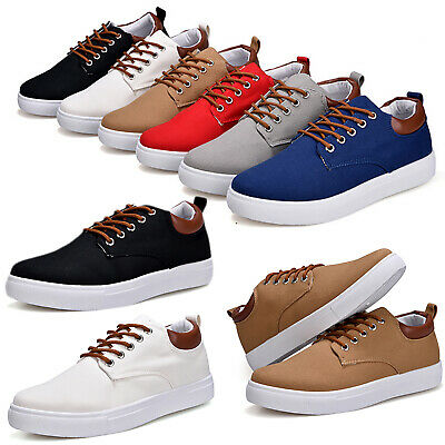 Mens Summer Lace Up Sneakers Flats Sneakers Canvas Casual Driving Smart Shoes