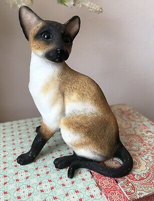 Leonardo Siamese Cat Figure 2003 ~ Collection Resin Cat Ornament / Figure
