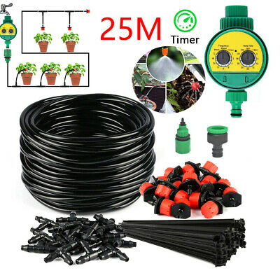 25m Watering Irrigation System Garden Hose Greenhouse Plants Watering Hose Set