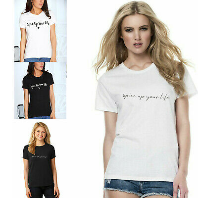 Ladies Spice Girls T-Shirt 2019 Tour Up Your Life Baggy Tee Top Concert Womens