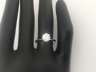 2.5 Ct Round Cut D/Si1 Real Diamond Engagement Ring 14K White Gold Solitaire
