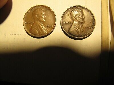U S  1944 S Lincoln Wheat Penny - Shell Casing 1 Cent Coin - San