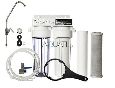 2 Stage Premium Home Under Sink Drinking Water Filter System With Accessories