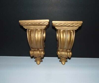 Pair of Ornate Corbels ~ Shelf ~ Swag Valance ~ Wall Art Display
