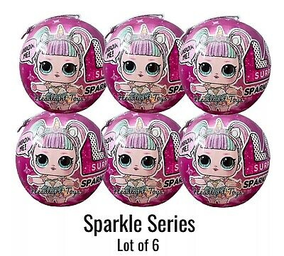6 Authentic LOL Surprise Sparkle Series Balls Big Sister Brother Dolls 1 2 3 4 5