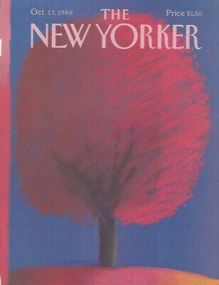 COVER ONLY ~The New Yorker magazine ~ October 13 1986 ~ NACHT ~ Brilliant Tree