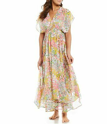 Kate Spade New York Floral Maxi Dress Cover Up NWT XS S M