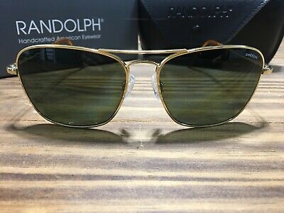 c01f01986d5f NEW Randolph Intruder POLARIZED AGX Green Aviator 58mm 23k Gold Sunglasses  Rare