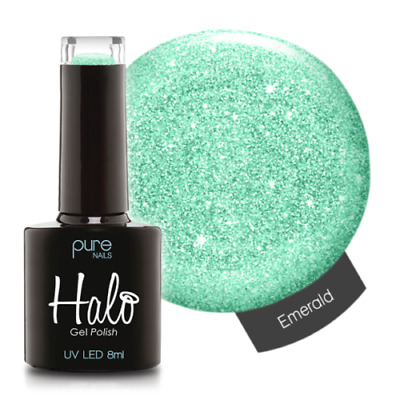 Pure Nails LED/UV Halo Gel Polish Collection - Emerald 8ml