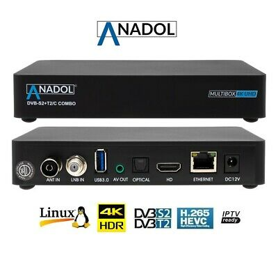 Anadol Multibox Android Combo 4K DVBS2/DVBT2 Decoder Ultra HD Enigma2 / Android