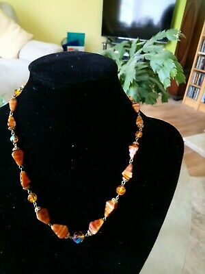 Vintage Tigers Eye Chip Necklace