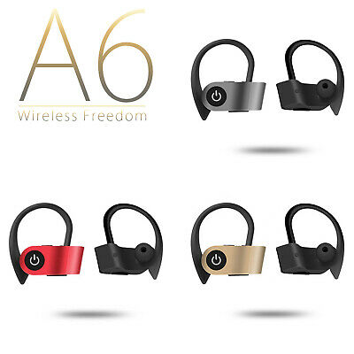 Auricolari Cuffie Bluetooth A6 Tws Android Ios Sport Wireless Senza Fili 4.2