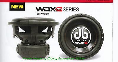 "1500 Watts SPL Audiophile New DB Drive 2017 Model WDX6.5G2-4 6.5"" Subwoofer"