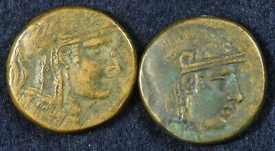 Lot of 2 Ancient Coins - Paphlagonia, Sinope. Late 2nd - Early 1st Century. AE