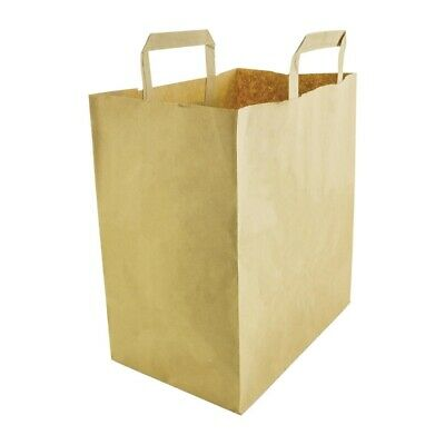 Vegware Compostable Large Recycled Paper Bags (Set of 250) [DW628]