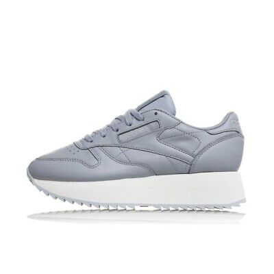 REEBOK CLASSIC LEATHER DOUBLE DV3626 donna zeppa para alta