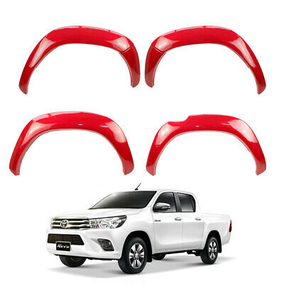 Fender Flares 5inch Trim Red(3T6) For Toyota Hilux Revo SR5 2015 2017
