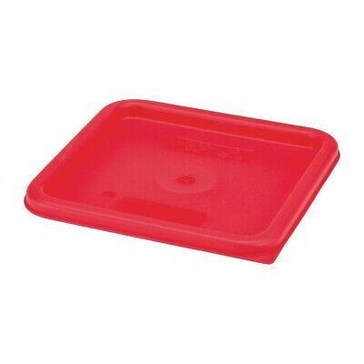 Cambro Camsquare Food Storage Container Lid Red [DB015]