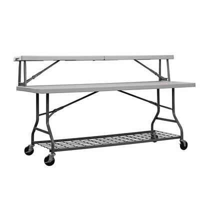 ZOWN Mobile Buffet Table 1833mm Grey [DW168]