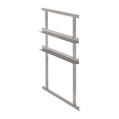 Cambro Kit of 4 Stainless Steel Rails and 2 Frames for Front Loading Food Carrie