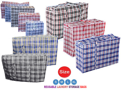 Laundry Bags Jumbo Extra Strong and Durable Shopping, Moving, Storage - UK Stock